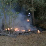 požiar v lese pri Lábe
